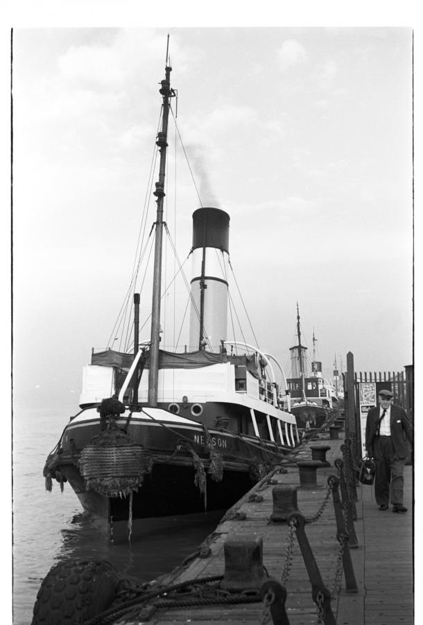 tug nelson at the liverpool pierhead late 1950s