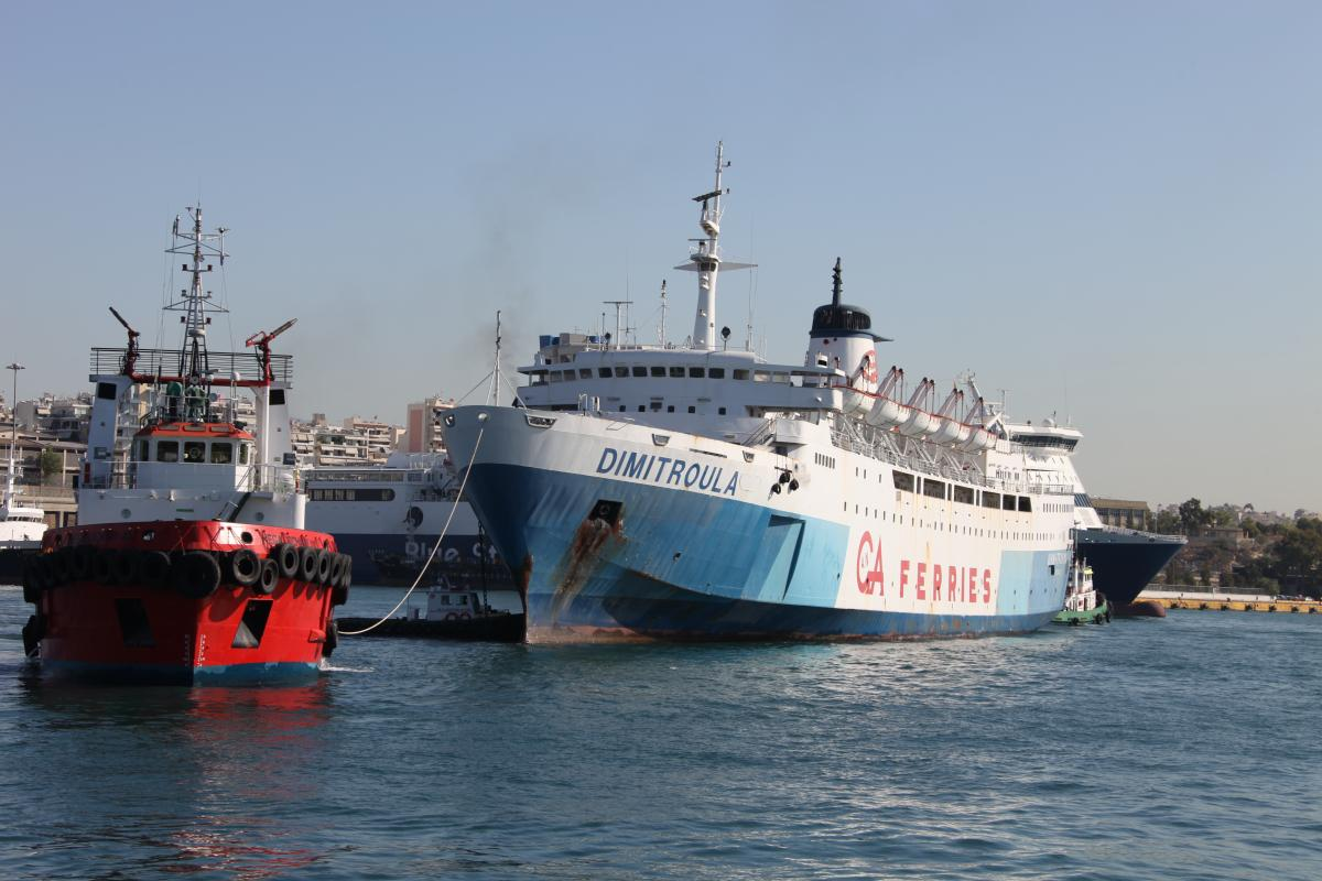 dimitroula leaving piraeus on the 30th august 2011 for the last journey